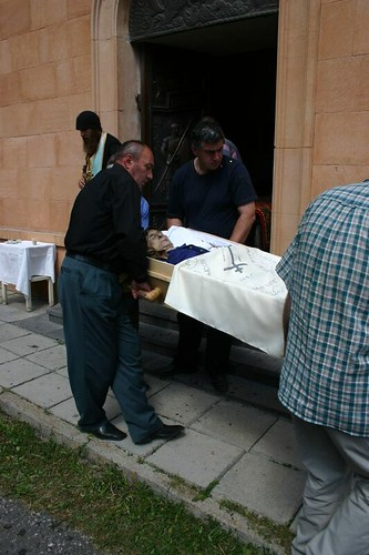 Georgian funeral in the village Sno. August 2006.