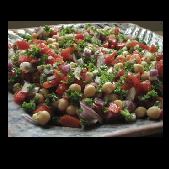 Not Mine - Red Capsicum, Parsley and Chickpea Salad