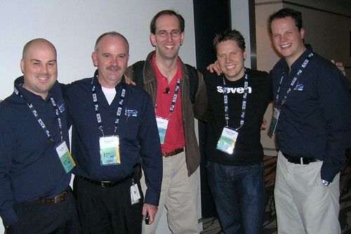 Scott Guthrie and the DPE team at Tech.Ed 2006 NZ.