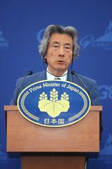 Koizumi en la cumbre del G8 de 2006