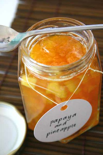 Papaya and Pineapple Preserve