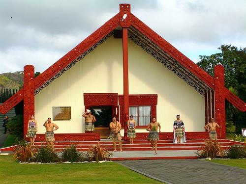 Rotowhio Marae中的wharenui(聚會所)