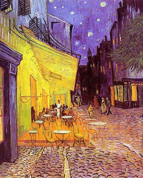 La terrasse d'un café à Arles, le soir de Vincent Van Gogh