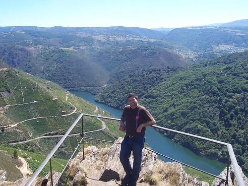 Jasp en el Mirador de Pena do Castelo