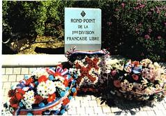 Rond-point de la 1ere division française Libre- La Farlède 25 mai 1996 - Fonds Pierre Tropet