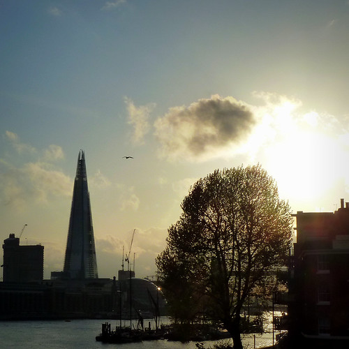 London - The Shard, City Hall and Tower Bridge at sunset photo by jjamv off