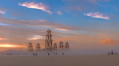 Photographer at Sunset, Burning Man 2011 photo by Michael Holden