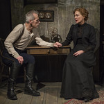Larry Yando (Edgar) and Shannon Cochran (Alice) in THE DANCE OF DEATH at Writers Theatre