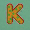 Puffy Sticker Letter K