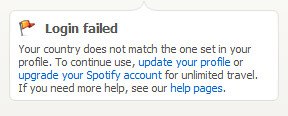spotify login failed