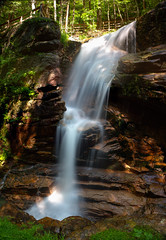 Avalanche Falls, Flume Gorge photo by Michael Juvet