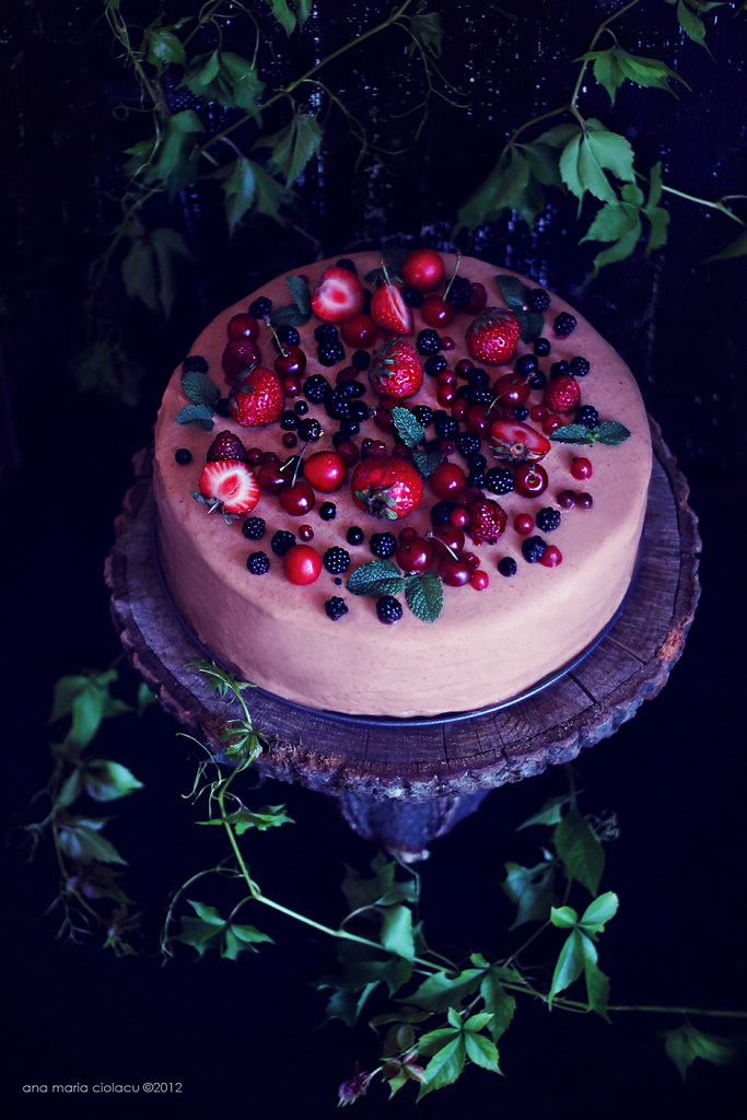 Cherry Berry Mousse Cake 4