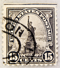 old american stamp USA 15c United States u.s. postage 15c Lady Liberty Statue of Liberty (World Heritage Site) Freiheitsstatue timbre Stamp USA United States of America timbre États-Unis u.s. postage selo Estados Unidos sello USA francobolli USA 15 cents photo by stampolina