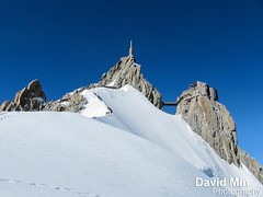Chamonix, Mont-Blanc - The Ridge to The Aiguille du Midi photo by GlobeTrotter 2000