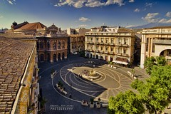 Panoramic view of Piazza Bellini photo by Andrea Rapisarda