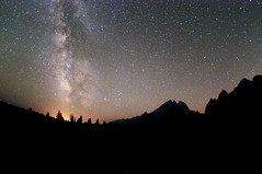 Milky Way and Meteors in Teton National Park photo by benalesh1985