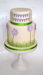 Anemone Extended Two Tier Birthday Cake photo by madebymariegreen