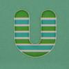 Puffy Sticker Letter U
