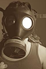 100/365: Gas Mask photo by MarcSherwood