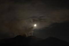 Etna North-East - Night degassation photo by ciccioetneo