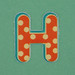 Puffy Sticker Letter H