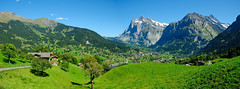 Panorama of Grindelwald photo by Werner_B