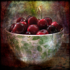 Life is just a bowl of cherries photo by Jean Turner Cain Away for two weeks!
