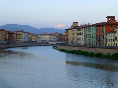 The river Arno in the centre of Pisa, Italy photo by Frans.Sellies