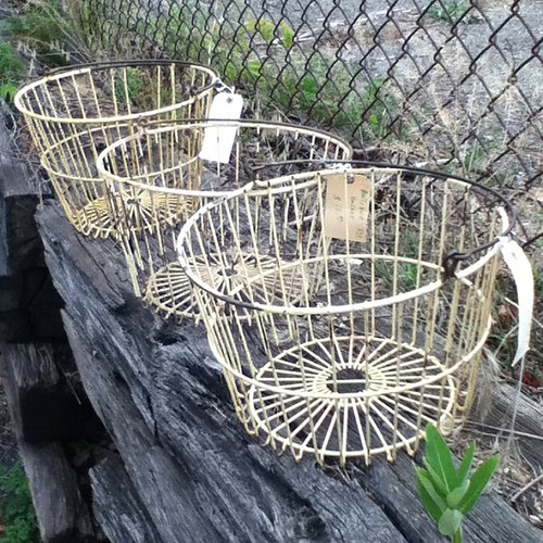 Antique Egg Baskets I scored at the flea market this weekend!