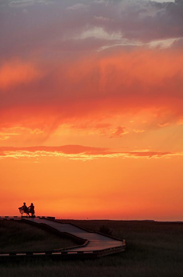 Enjoying a Badlands Sunset photo by Matt Champlin