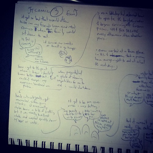 Comic script notes #366pagecomicchallenge #comics #366