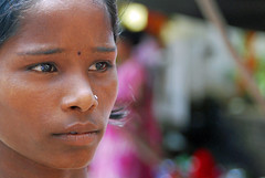 Street portrait - India - Orchha photo by cpcmollet