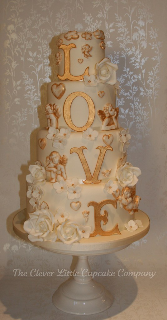 LOVE Wedding Cake photo by The Clever Little Cupcake Company