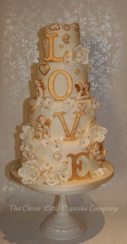 LOVE Wedding Cake photo by The Clever Little Cupcake Company (Amanda)