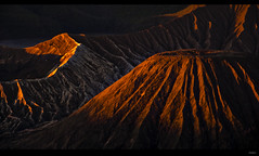bromo bathed in sunset light photo by lokibo