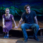 Kelly O'Sullivan (Claudia) and Nathan Hosner (Ian) in HESPERIA at Writers Theatre. Photo by Michael Brosilow.