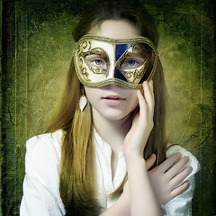 Girl with the Mask photo by Arunas S