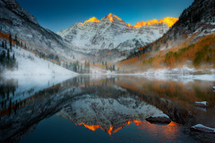 Maroon Bells Sunrise, Colorado Rockies photo by kevin mcneal