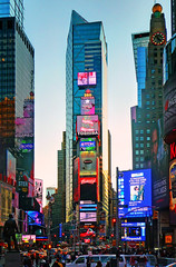 Times Square / dusk photo by George Rex