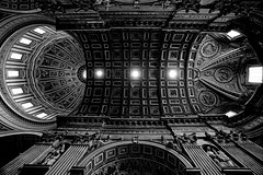 st peter's basilica ceiling and dome photo by elmofoto