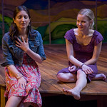 Rebecca Buller (Daisy) and Kelly O'Sullivan (Claudia) in HESPERIA at Writers Theatre. Photo by Michael Brosilow.