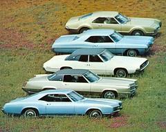 1967 Buick Riviera, Cadillac Eldorado, Ford Thunderbird, Pontiac Grand Prix and Oldsmobile Toronado photo by coconv