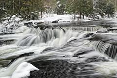Winter at Bond Falls ~ Upper Bond Falls ~ Paulding, Michigan photo by Michigan Nut