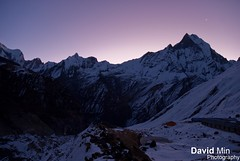 Annapurna Base Camp, Nepal - Waiting For the Sunrise ... Damn it is freezing ! photo by GlobeTrotter 2000