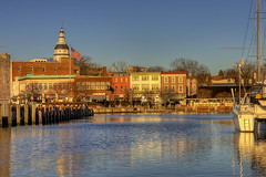 Winter Sunrise at Annapolis City Dock (Ego Alley) photo by Charlie Stinchcomb