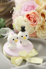 Wedding Cake Topper-love bird photo by charles fukuyama
