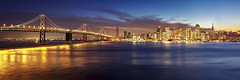San Francisco Christmas Lights from Yerba Buena Island photo by photofanman