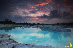 Kaolin Lake, Belitung, Indonesia photo by Edo K - MotoYuk!!!