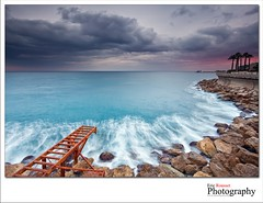 Sunset in Larvotto @ Monaco (French Riviera) photo by Eric Rousset