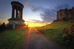 Last Rays On Calton Hill (Explored) photo by WJMcIntosh